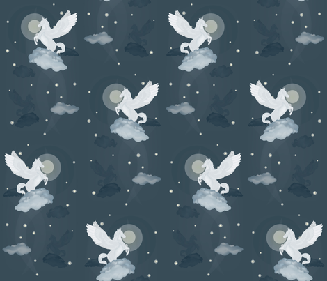 pegasos_flying_high fabric by pauliqui on Spoonflower - custom fabric