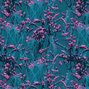 skopelos neon pink flowers