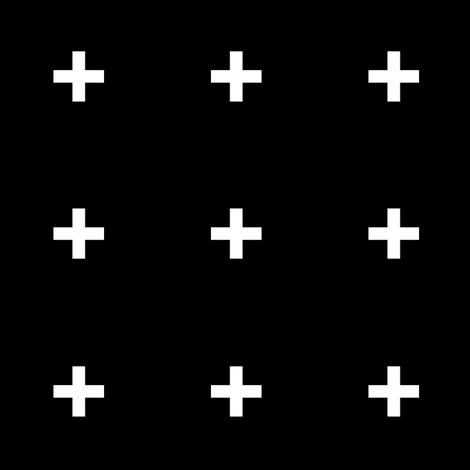 White cross on black LARGE