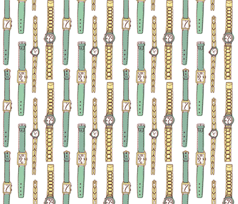 watches fabric by mummysam on Spoonflower - custom fabric