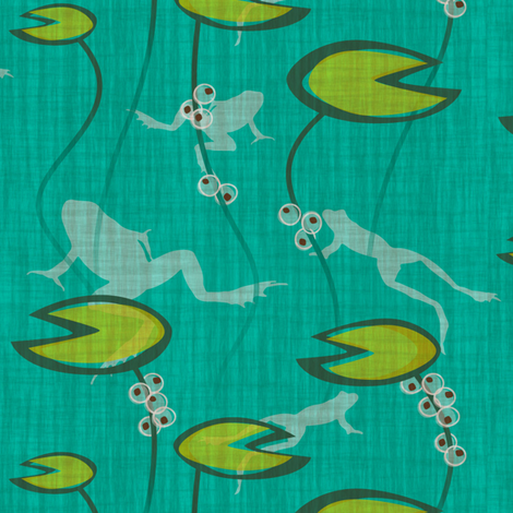 The Frog Pond fabric by jwitting on Spoonflower - custom fabric
