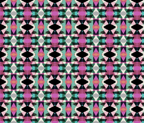 Tribal Fun Violet Mint fabric by pencilmein on Spoonflower - custom fabric