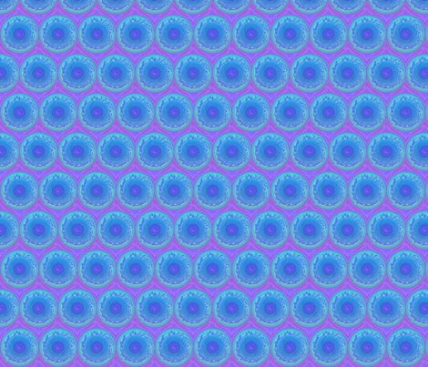 aqua orbs horizontal fabric by vos_designs on Spoonflower - custom fabric