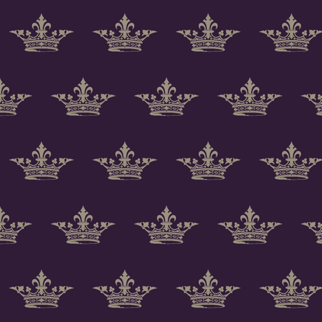 you may call me your majesty fabric by mezzime on Spoonflower - custom fabric