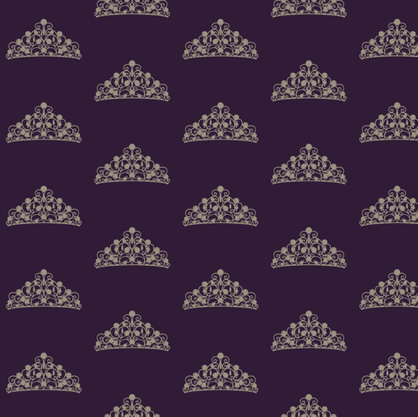 Don't touch the Tiara fabric by mezzime on Spoonflower - custom fabric