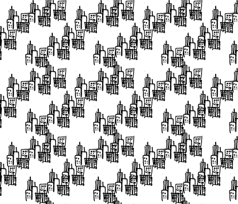 City fabric by dalcenea on Spoonflower - custom fabric