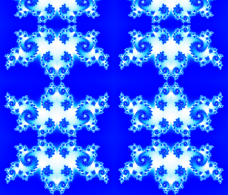 Flames - Blue fabric by xx_rapunzel_xx on Spoonflower - custom fabric