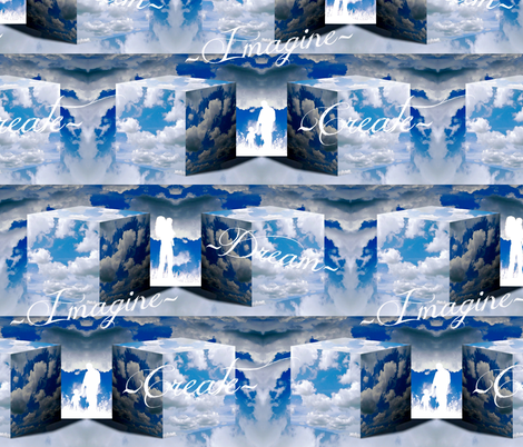 Imagine-Dream-Create fabric by whimzwhirled on Spoonflower - custom fabric