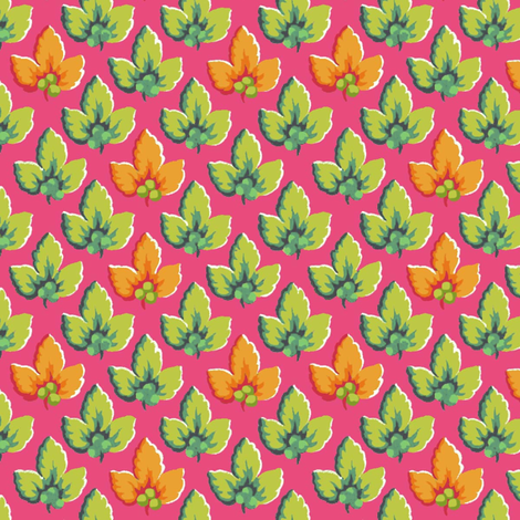 Fushcia_Leaf fabric by kelly_a on Spoonflower - custom fabric