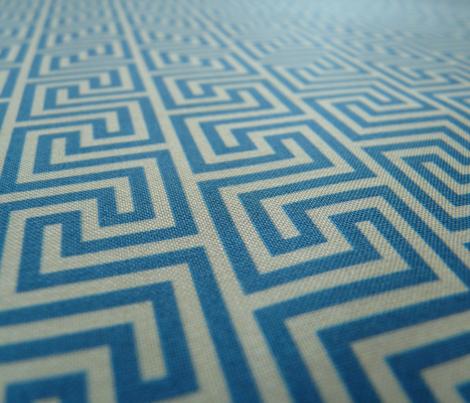 Greek key blue