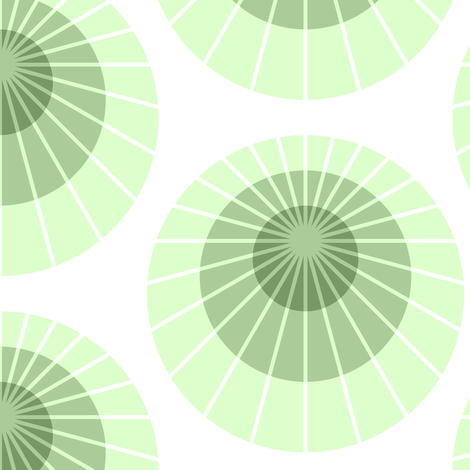 mod mollusca - lime green fabric by sef on Spoonflower - custom fabric