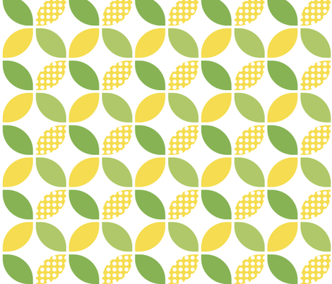 Lemons & Limes fabric by hiphiphoera on Spoonflower - custom fabric