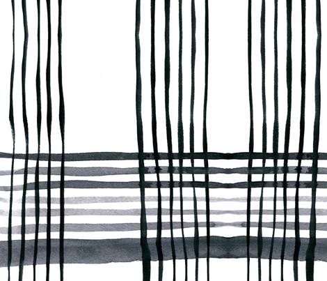 cestlaviv_kitchenplaid gris fabric by cest_la_viv on Spoonflower - custom fabric
