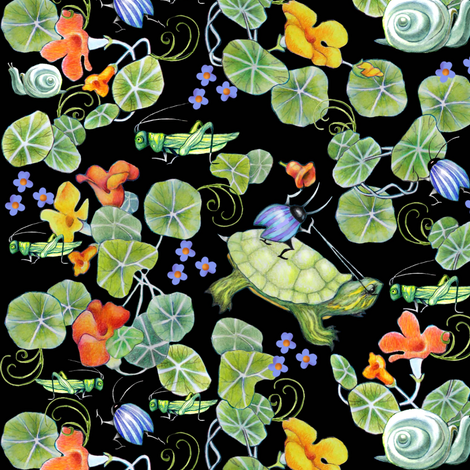 underbrush turtle racing fabric by golders on Spoonflower - custom fabric