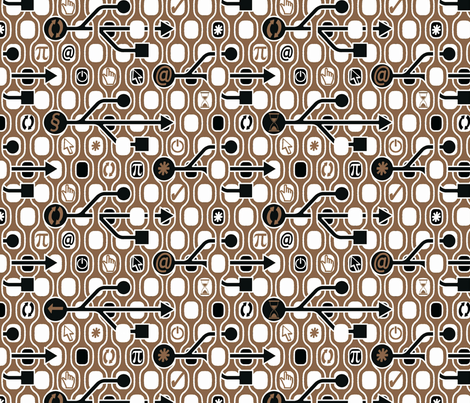 Geek_Spirit_Coffee fabric by chicca_besso on Spoonflower - custom fabric