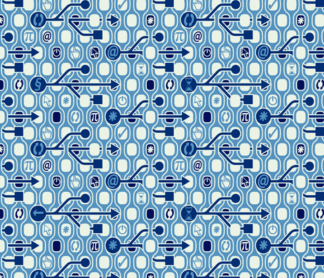 Geek_Spirit_Blue Tinted fabric by chicca_besso on Spoonflower - custom fabric