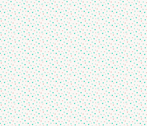 Green Holiday Triangles fabric by jennjersnap on Spoonflower - custom fabric