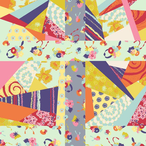 Floral Crazy Quilt