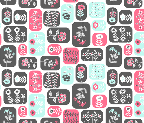 Mod Flowers fabric by alissecourter on Spoonflower - custom fabric