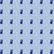 Tardis Blue Plaid, Medium