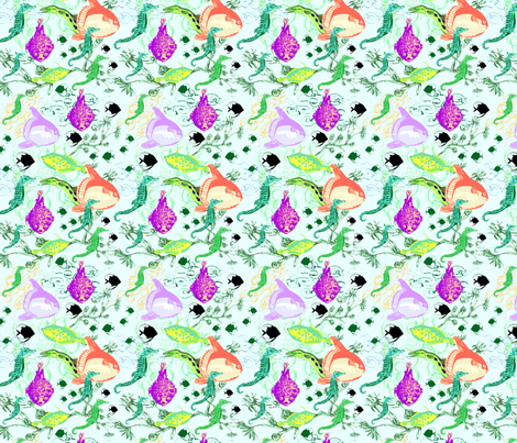 Denizens of the Deep Bright fabric by vinpauld on Spoonflower - custom fabric
