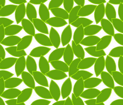 mod_citrus_leaves_lime_outline_on_white fabric by victorialasher on Spoonflower - custom fabric
