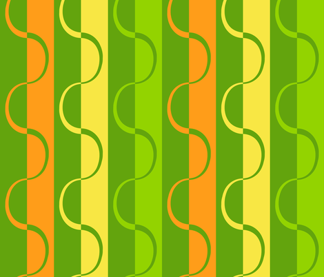 mod_citrus_curve_stripe_leaf_green fabric by victorialasher on Spoonflower - custom fabric