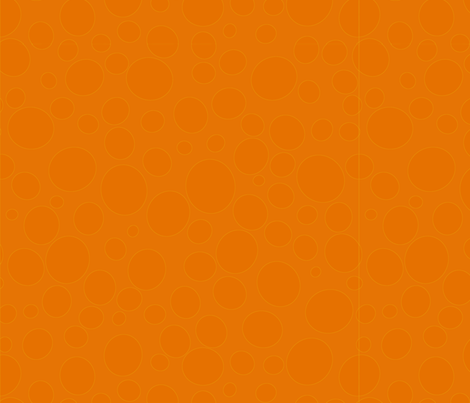 Orange bubbles fabric by greennote on Spoonflower - custom fabric