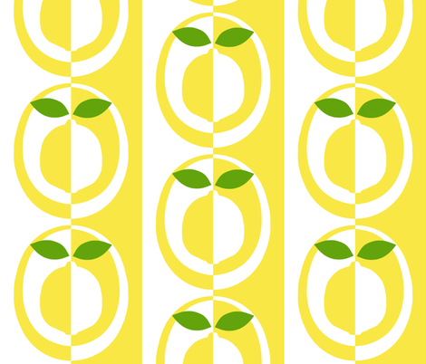 mod_lemon fabric by victorialasher on Spoonflower - custom fabric