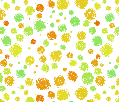 Citrus - textured on white fabric by greennote on Spoonflower - custom fabric