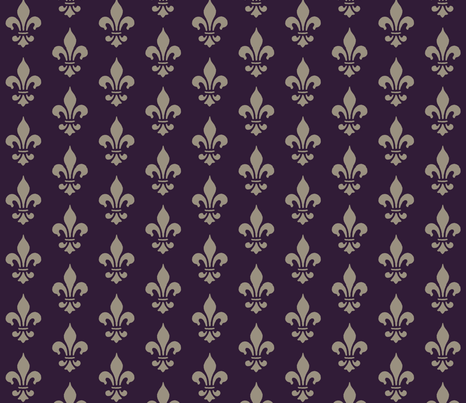 Royal fleur de lis fabric by mezzime on Spoonflower - custom fabric