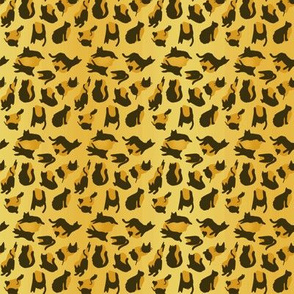 kitty cat leopard animal print - gold