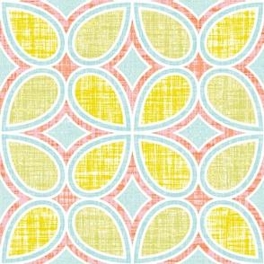 Mod Linen Petals Multi