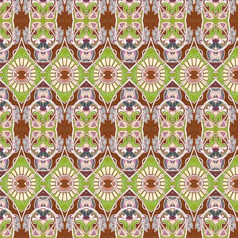 Nouveau Gothic 1940's Eyeball Sunflower Stew fabric by edsel2084 on Spoonflower - custom fabric