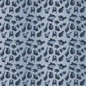kitty cat leopard animal print - denim