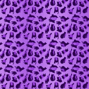 kitty cat leopard animal print - purple