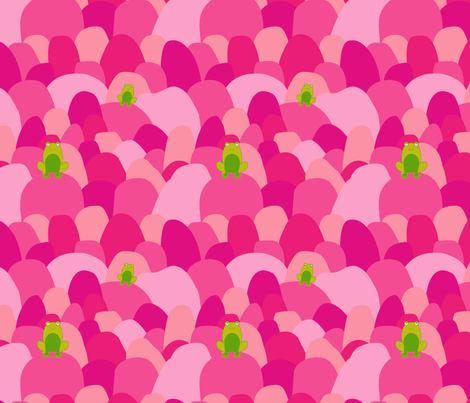 Happy frogs fabric by supersophie on Spoonflower - custom fabric