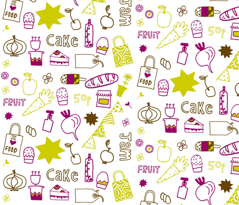 Happy Farmers Market fabric by modern_day_magpie on Spoonflower - custom fabric