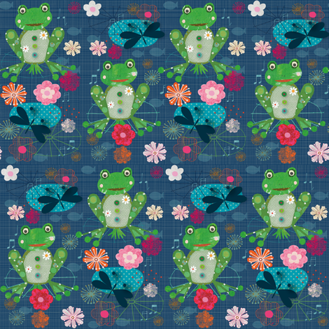 frogs & lillipads (v.3) fabric by bee_brown on Spoonflower - custom fabric