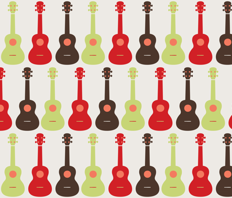 Ukulele - 6 fabric by owlandchickadee on Spoonflower - custom fabric