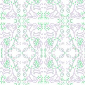 Mint Lavender Organic Scroll