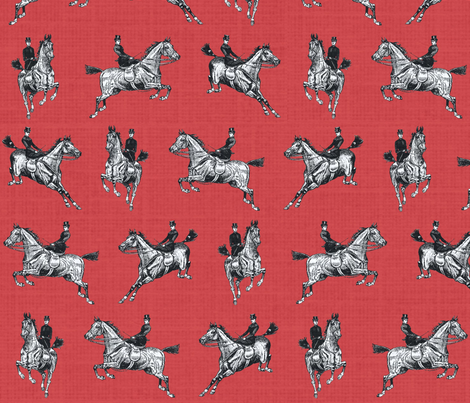 Svelte Sidesaddle Sweethearts-ed fabric by ragan on Spoonflower - custom fabric