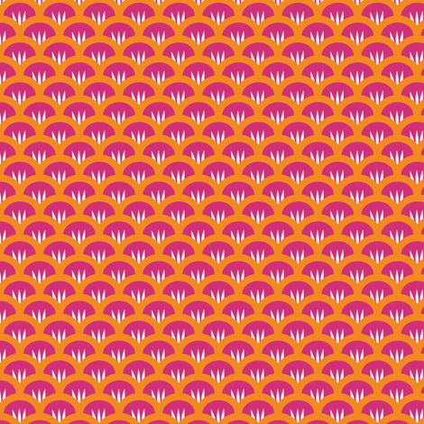 Suzy Woozy pink orange fabric by jillbyers on Spoonflower - custom fabric