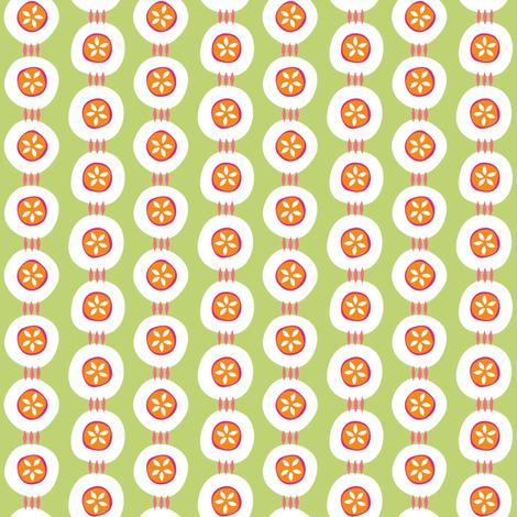 Citrus Buttons green fabric by jillbyers on Spoonflower - custom fabric