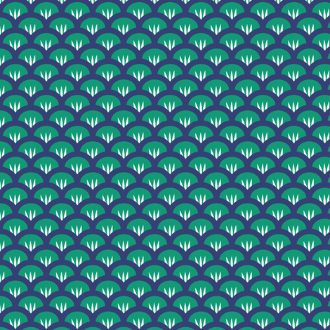 Suzy Woozy emerald & navy fabric by jillbyers on Spoonflower - custom fabric