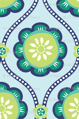 Citrus  Flower light blue