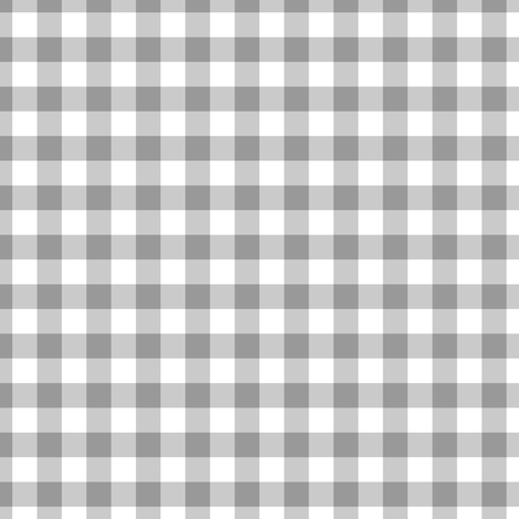 Gingham ~ Grey on Gray fabric by peacoquettedesigns on Spoonflower - custom fabric