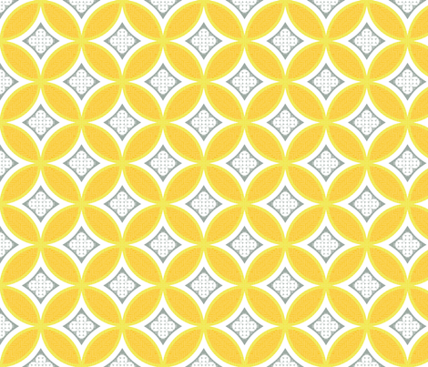 Mexican Mod Tile - turmeric fabric by marcador on Spoonflower - custom fabric