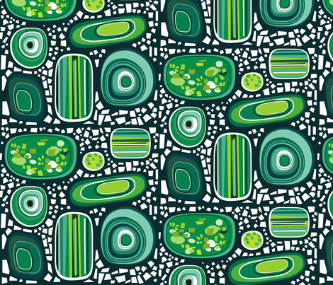 terrazzo - malachite jade fabric by kurtcyr on Spoonflower - custom fabric