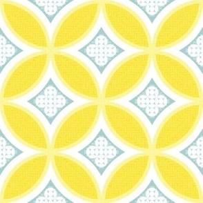 Mexican Mod Tile - daisy + mist